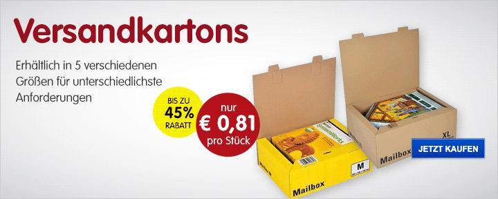 Versandkartons ab nur €0,81