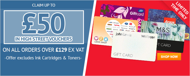 Claim up to £50 in Vouchers