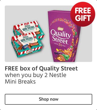 Free Quality Street with 2 Nestle Mini Breaks