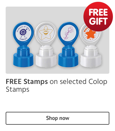 Free stamps on selected Colop Stamps