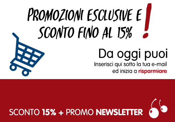 15% benvenuto pop-up