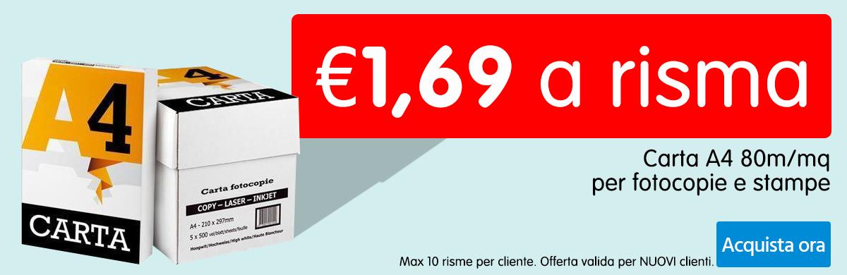 Carta a €1,69