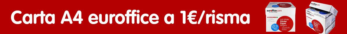 Carta A4 Euroffice a solo 1€/risma