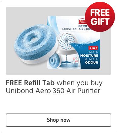 FREE Refill Tab when you buy Unibond Aero 360 Air Purifier