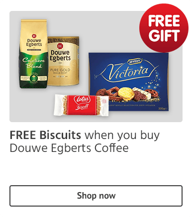 FREE Biscuits when you buy Douwe Egberts Coffee