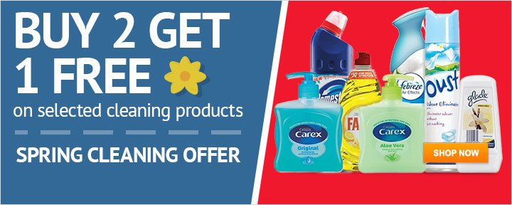 Buy 2 get 1 free on spring cleaning