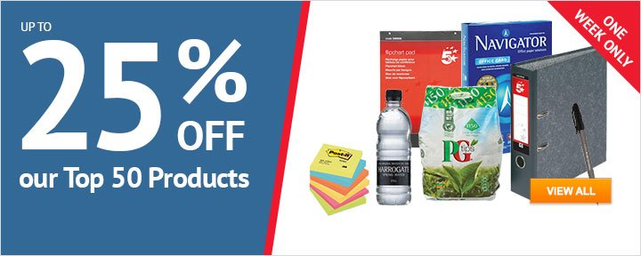 25% off our Top 50 Products