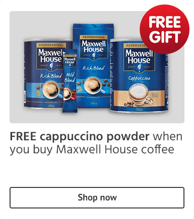 Free cappuccino powder on Maxwell House coffe