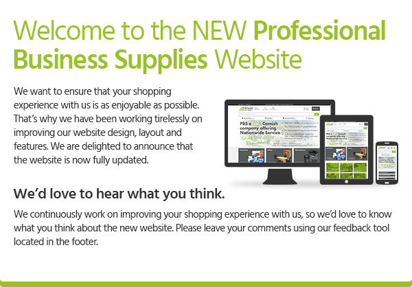 Welcome to the NEW Professional Business Supplies Ltd Website