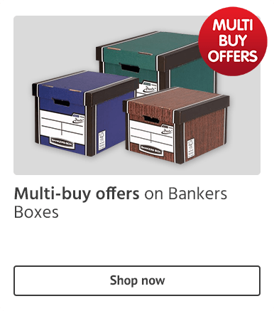 Multi-buy offers on bankers boxes