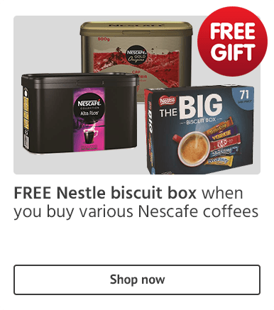 Free Nestle biscuit box with Nescafe coffees