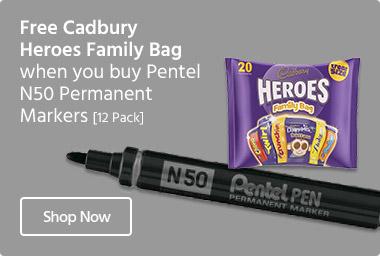 Pentel-N50-Permanent-Markers-Cadbury-Heroes-Family-Bag