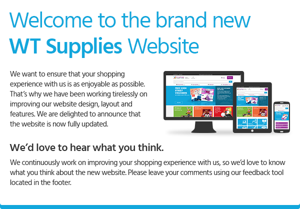 Welcome to the brand new WT Supplies website